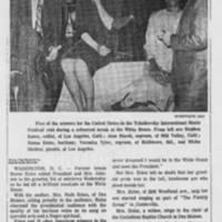 """1966-09-08 """"""""Iowa Singer at White House"""""""""""