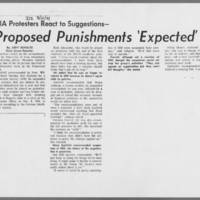"""1971-03-11 Daily Iowan Article: """"""""Proposed Punishments 'Expected'"""""""""""
