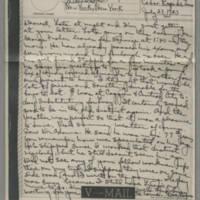 1943-07-23 Laura Davis to Lloyd Davis