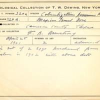 Thomas Wilmer Dewing, egg card # 210