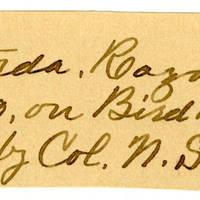 Clinton Mellen Jones, egg card # 212