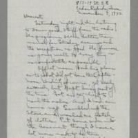 1942-11-07 Laura Davis to Lloyd Davis Page 1