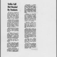"""1971-02-10 Iowa City Press-Citizen Article: """"""""Strike Call Not Heeded By Students"""""""""""