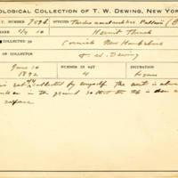 Thomas Wilmer Dewing, egg card # 835u
