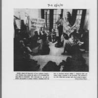 "1971-05-11 Iowa City Press-Citizen Photo: """"Sit-In"""""