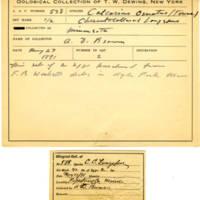 Thomas Wilmer Dewing, egg card # 430