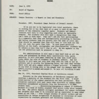 """1970-06-03 Report: """"""""Campus Tensions -- A Report on Iowa and Elsewhere"""""""" Page 1"""