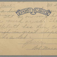 1945-09-25 Bob Maon to Dave Elder Postcard