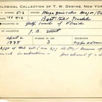 Thomas Wilmer Dewing, egg card # 419