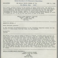 1964-06-11 NAACP Newsletter, Fort Madison Branch