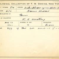 Thomas Wilmer Dewing, egg card # 687u