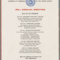 Chamber of Comerce of the United States 53rd Annual Meeting