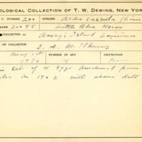 Thomas Wilmer Dewing, egg card # 149