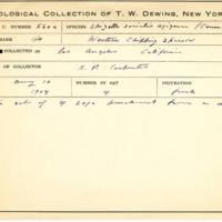 Thomas Wilmer Dewing, egg card # 444