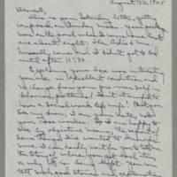 1945-08-12 Laura Davis to Lloyd Davis Page 1