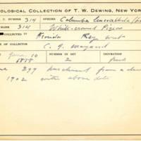 Thomas Wilmer Dewing, egg card # 205