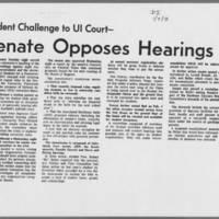 "1971-01-07 Daily Iowan Article: """"Senate Opposes Hearings"""""
