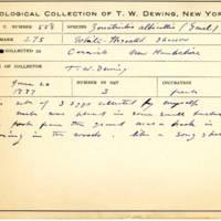Thomas Wilmer Dewing, egg card # 442