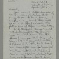 1943-04-18 Laura Davis to Lloyd Davis Page 1