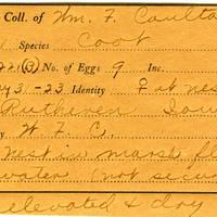 William F. Coultas, egg card # 002