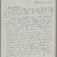 1944-03-26 Helen Fox to Bess Peebles Fox Page 1
