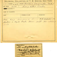 Thomas Wilmer Dewing, egg card # 178