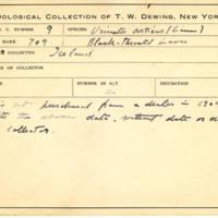 Thomas Wilmer Dewing, egg card # 010