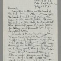 1943-07-27 Laura Davis to Lloyd Davis Page 1