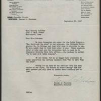 1947-09-29 George L. Glasheen to Miss Dorothy Schramm