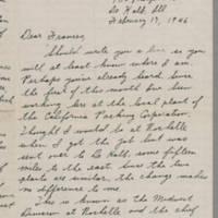 1945-02-17 Maurice Hutchison to Laura Frances Davis Page 1