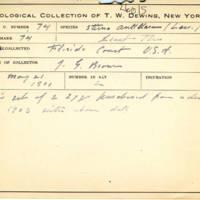 Thomas Wilmer Dewing, egg card # 056