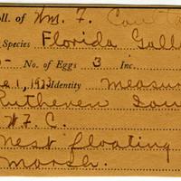 William F. Coultas, egg card # 021