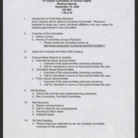 2006-09-19 UI Charter Committee on Human Rights Meeting Agenda