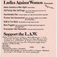 Ladies Against Women Requests