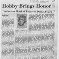 """1978-01-29 Article: """"""""Hobby Brings Honor"""""""""""