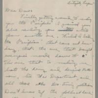 1946-01-08 Pfc. Robert J. Nicola to Dave Elder Page 1
