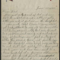 1918-06-10 Harvey Wertz to Mr. L.A. Wertz Page 1