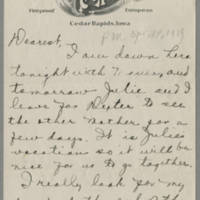 1919-04-14 Daphne Reynolds to Conger Reynolds Page 1