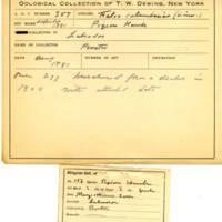 Thomas Wilmer Dewing, egg card # 236