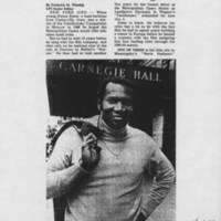 """1981-10-22 """"""""Met star charges discrimination"""""""" Page 1"""