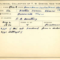 Thomas Wilmer Dewing, egg card # 433