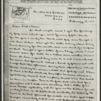 1945-02-15 John W. Graham to Mr. & Mrs. W.J. Graham Page 1