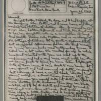 1943-06-29 Laura Davis to Lloyd Davis Page 1