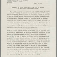 Synopsis of the Civil Rights Bill Page 1