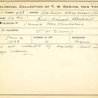 Thomas Wilmer Dewing, egg card # 680u