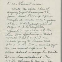 1945-08-29 Susie Hutchison to Laura Frances Davis Page 1