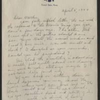 1944-04-05 Helen Fox to Bess Peebles Fox Page 1