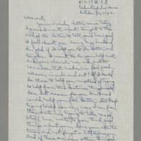 1942-10-30 Laura Davis to Lloyd Davis Page 1