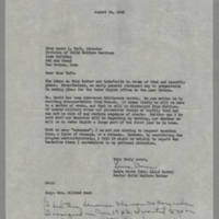 1945-08-14 Laura Davis to Miss Laura Taft
