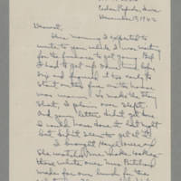 1942-12-10 Laura Davis to Lloyd Davis Page 1